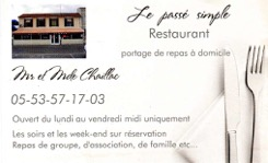 "Restaurant ""Le passé simple"""