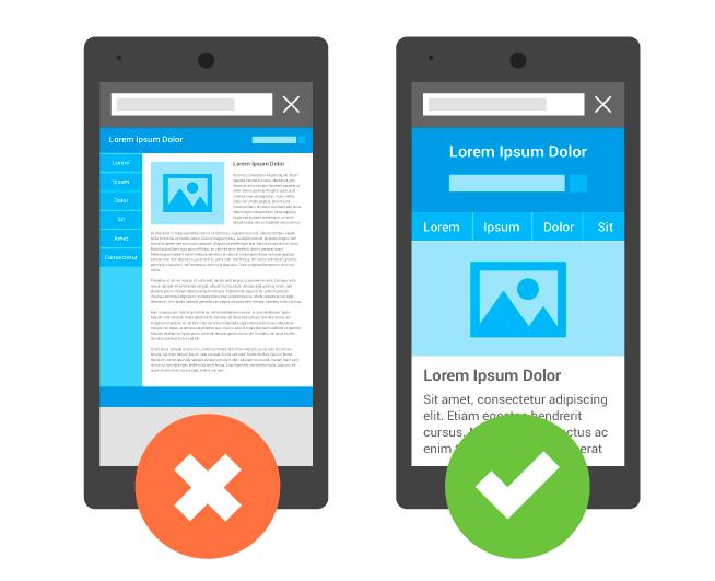 Mobile Friendly vs Non Mobile-Optimised