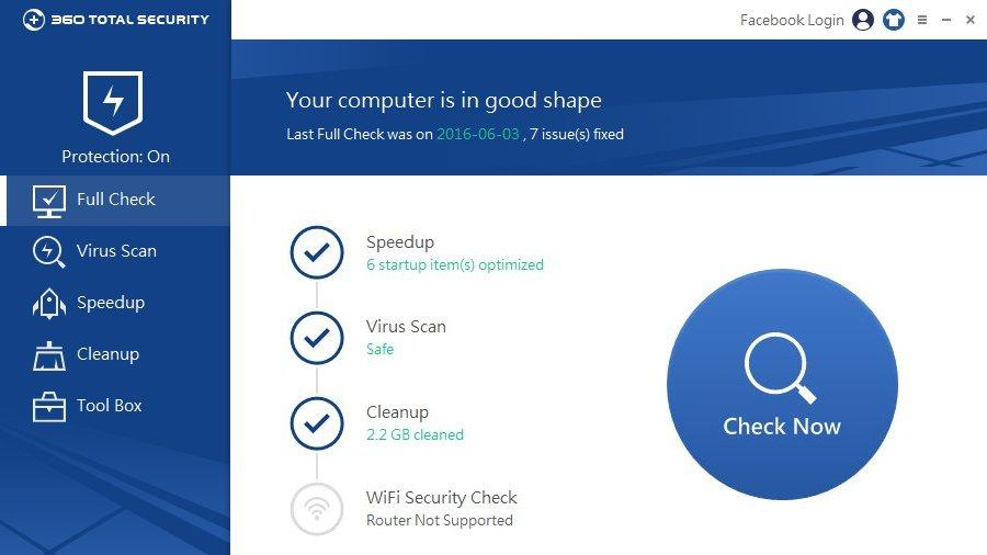 Best Free AntiVirus For Windows - 360 Total Security