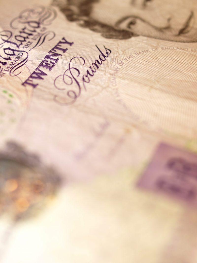 British £20 note