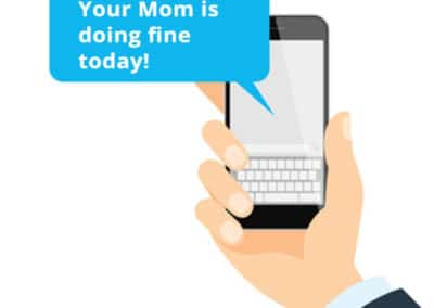 BlueStar Texts your Smartphone with message.