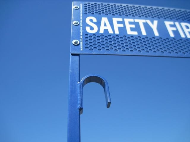 Powder Coated FRA and OSHA Blue Flag Protection