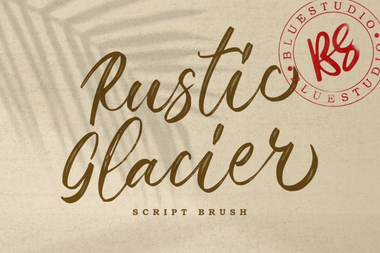 Rustic Glacier Brush Script Font