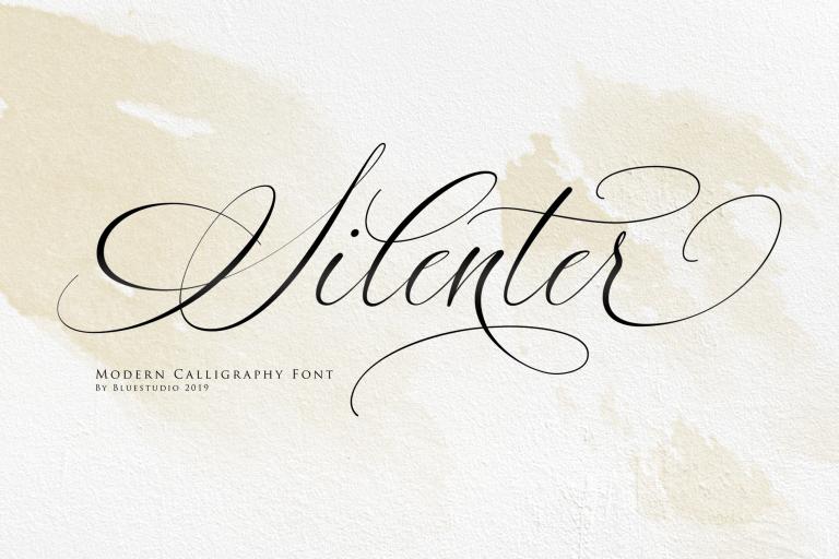 Silenter Modern Calligraphy Font
