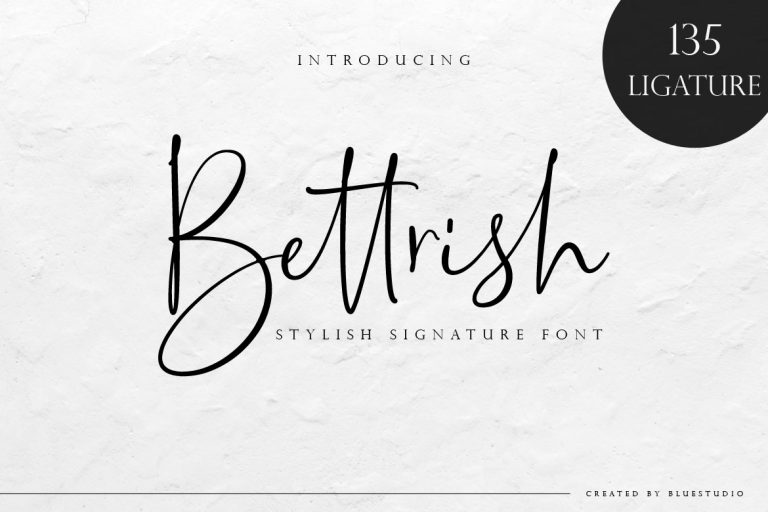 Bettrish Stylish Signature Font