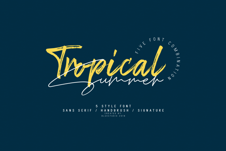 Tropical Summer Font Combination