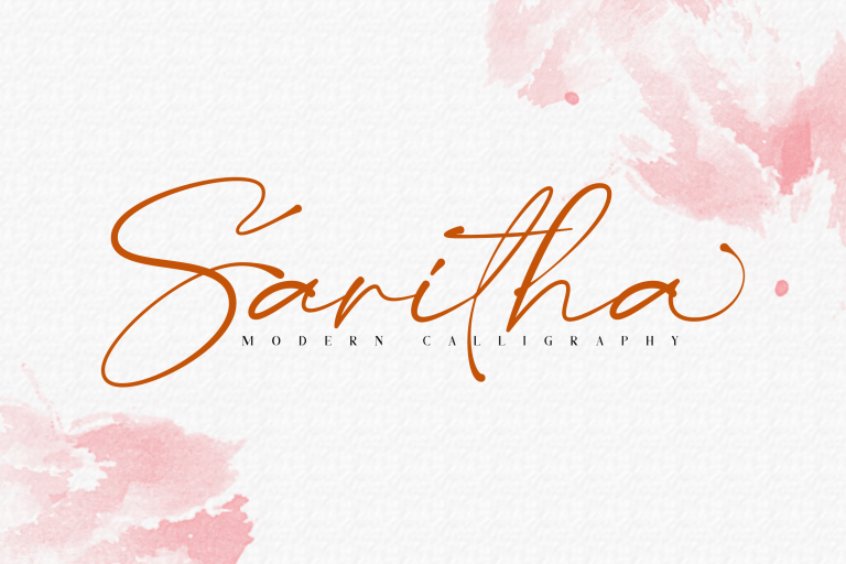 Saritha Modern Calligraphy