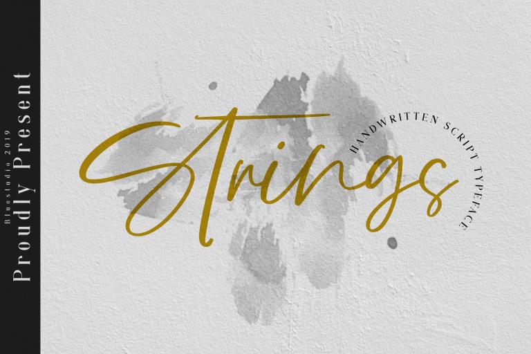 Preview image of Strings Handwritten Script Font