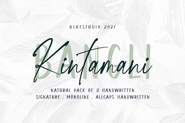 Preview image of Bangli Kintamani 8 Handwritten Fonts
