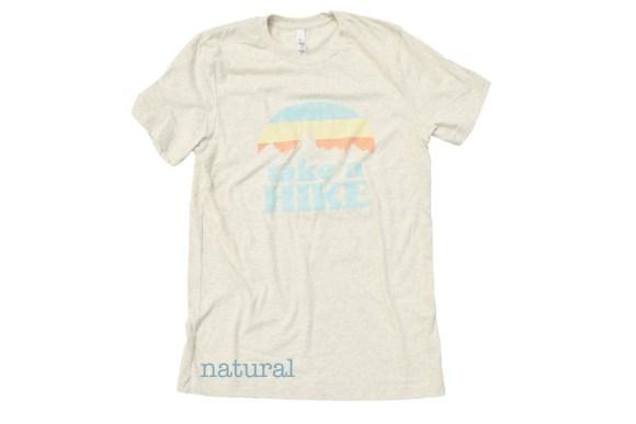 Take a Hike t-shirt - natural color