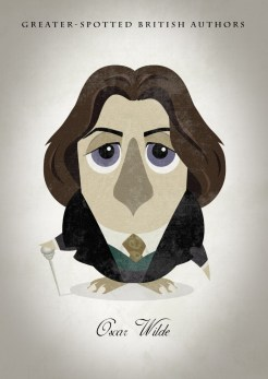 Great-authors-presented-as-owls-Oscar-Wilde