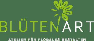 logo_blueten-art_schrift_blume_gruen_weiss