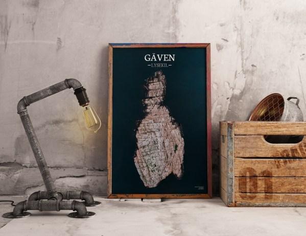 Poster av holmen Gäven