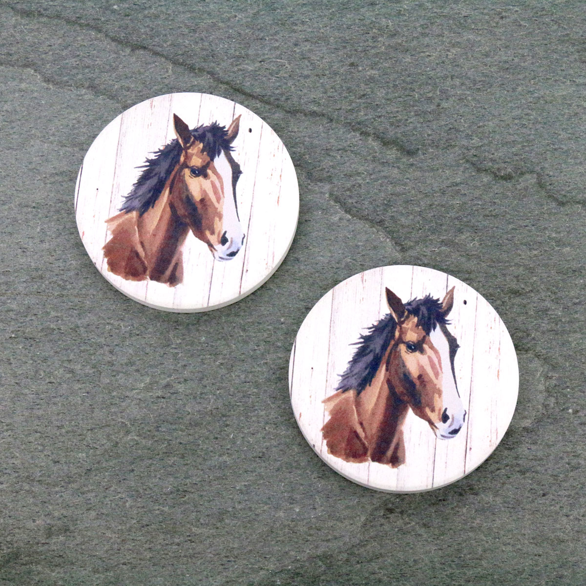Horse Absorbent Ceramic Car Coasters-ST0101/CLY