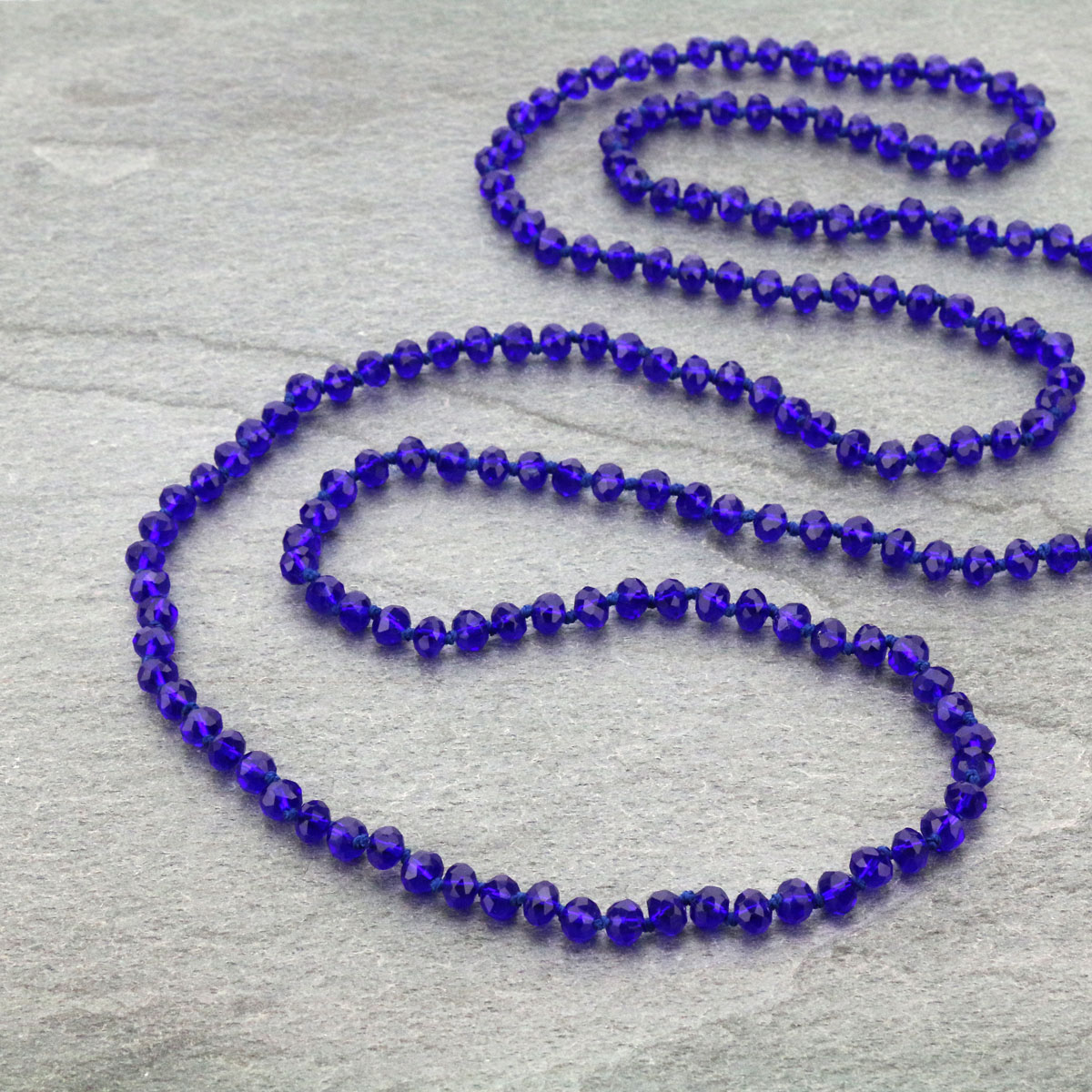 "60"" Endless Crystal Bead Necklace-ST-0064/BL(25)"