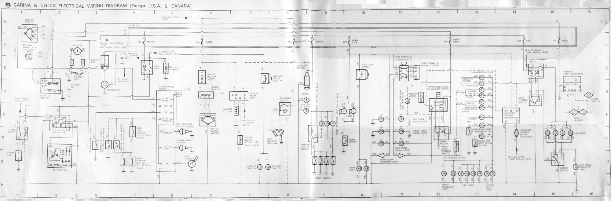 hight resolution of tech docs bluetwentyeight ra28 celica restoration 1977 celica craigslist 1977 celica wiring diagram