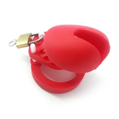 cage-silicone-rouge-souple-BDSM