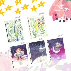 Collection Forêt cosmique, carnets magiques thérapeutiques