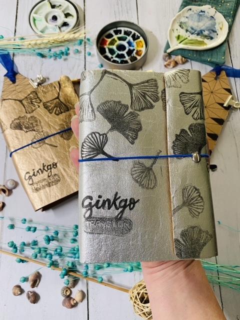 Carnet de voyage Ginkgo Traveler couleur Argent