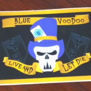 Blue Voodoo Flag Sticker