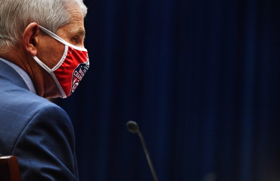 """Anthony Fauci who leads the National Institute of Allergy and Infectious Diseases, was home and resting, but expected to """"back online tomorrow"""" and at the office on Monday, the agency said in a statement - KEVIN DIETSCH / ©AFP"""