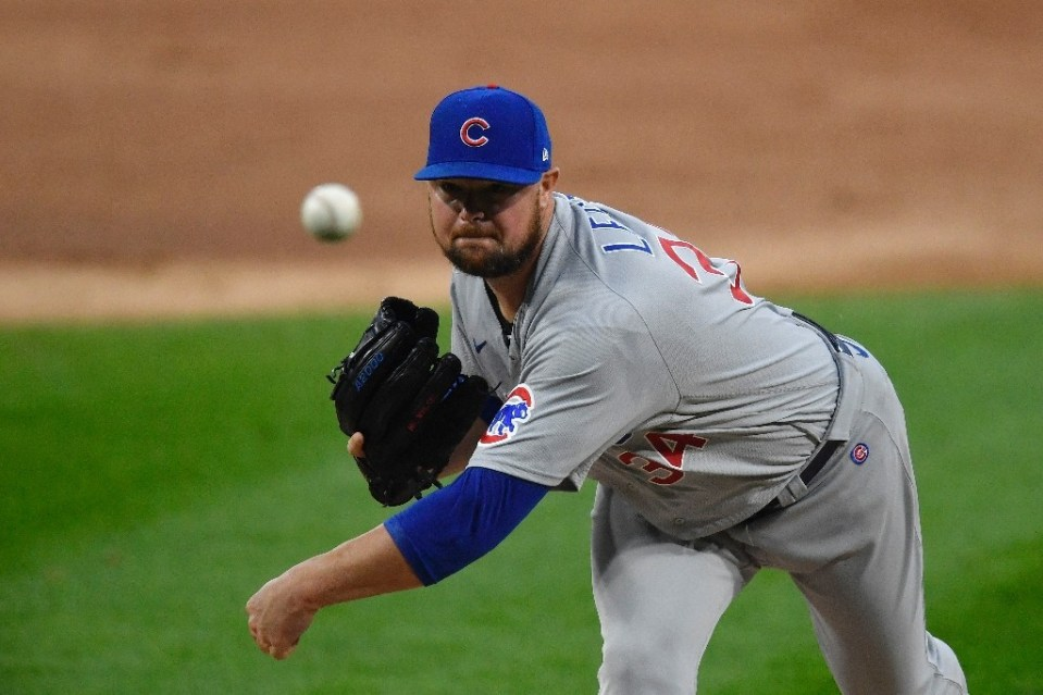 Washington Nationals pitcher Jon Lester, seen here in action for the Chicago Cubs last season, faces surgery to remove a thyroid gland - Quinn Harris / ©AFP
