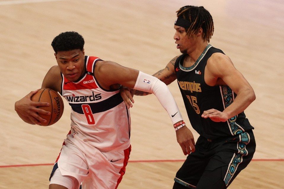 Washington's Rui Hachimura, left, and Brandon Clarke, right, of Memphis were among the NBA Rising Stars World team selections announced by the league Wednesday, although the annual contest between young NBA talent will not be played - Patrick Smith / ©AFP