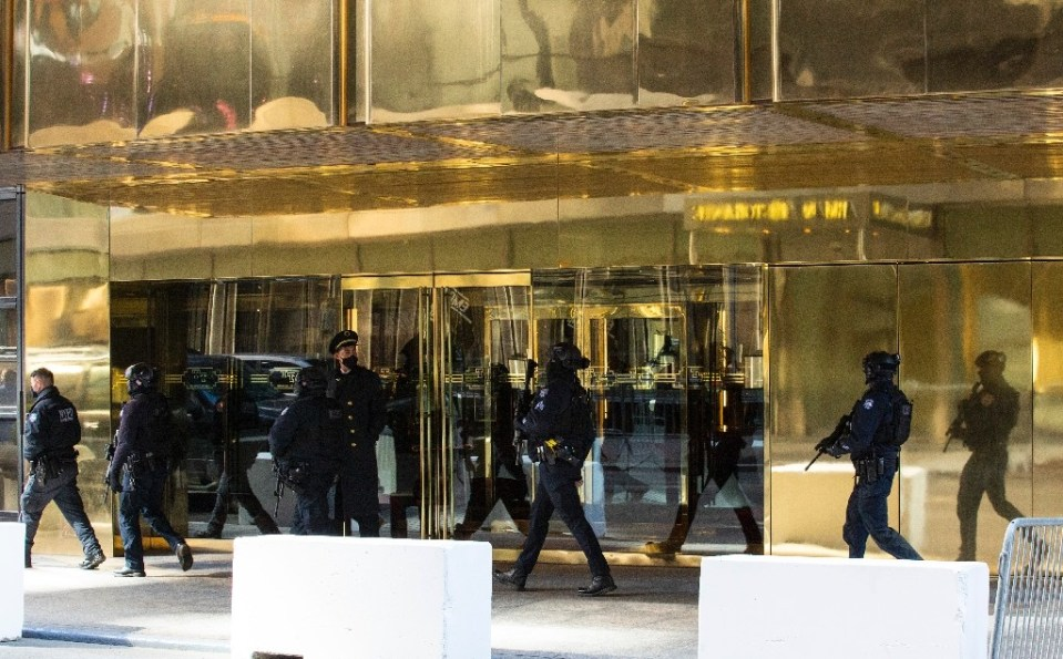 Security was tight at Trump Tower in New York as former president Donald Trump paid his first visit since leaving the White House - Kena Betancur / ©AFP