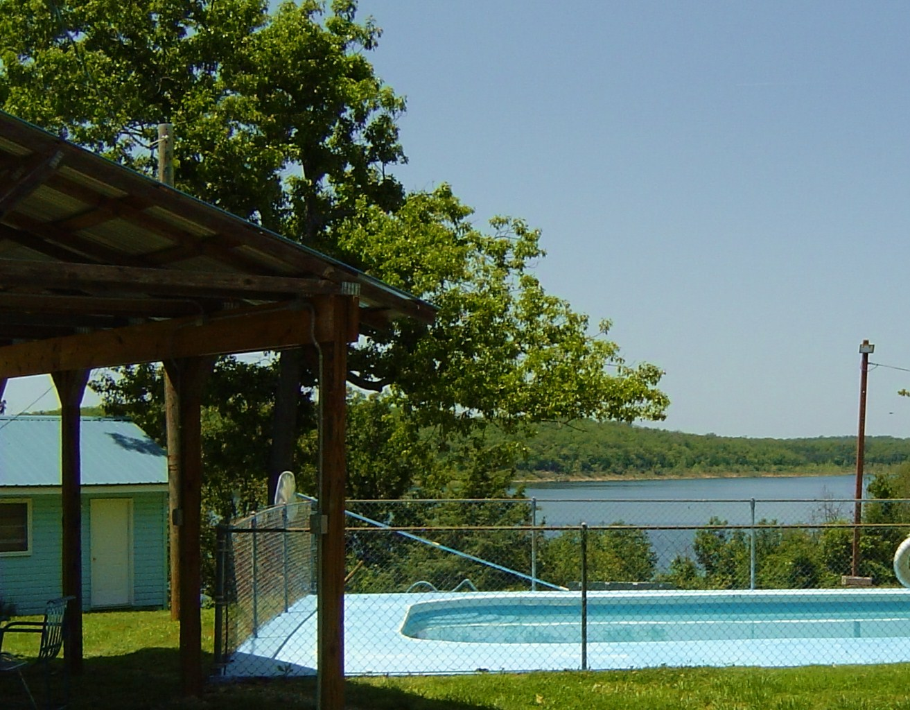 Pool view for brochure