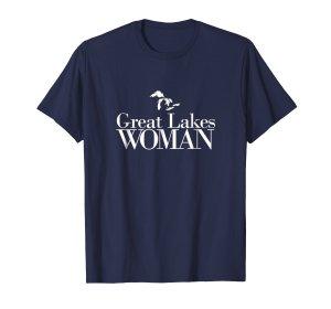 great lakes woman tee shirt-- navy