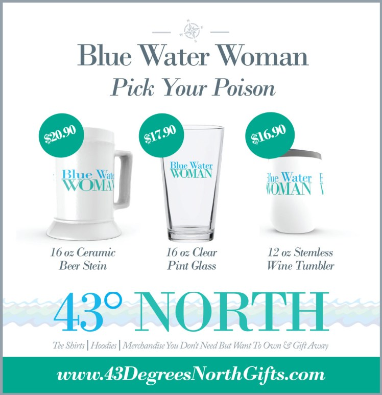3625 x 375 ad--43 degrees north--blue water woman alcohol contai