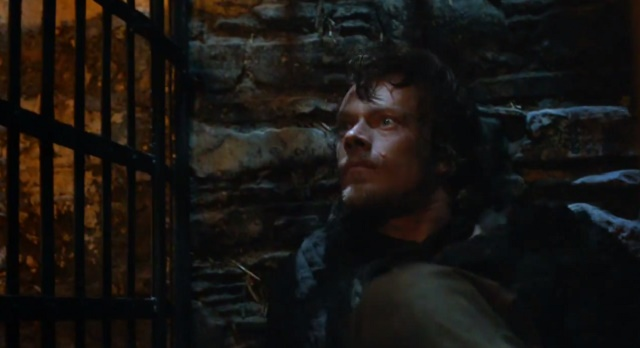 Theon Greyjoy in his kennel