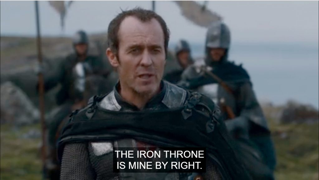 Stannis claim to the Iron Throne