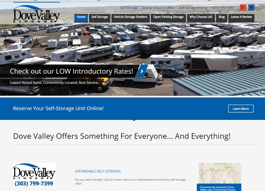Dove Valley Storage Website