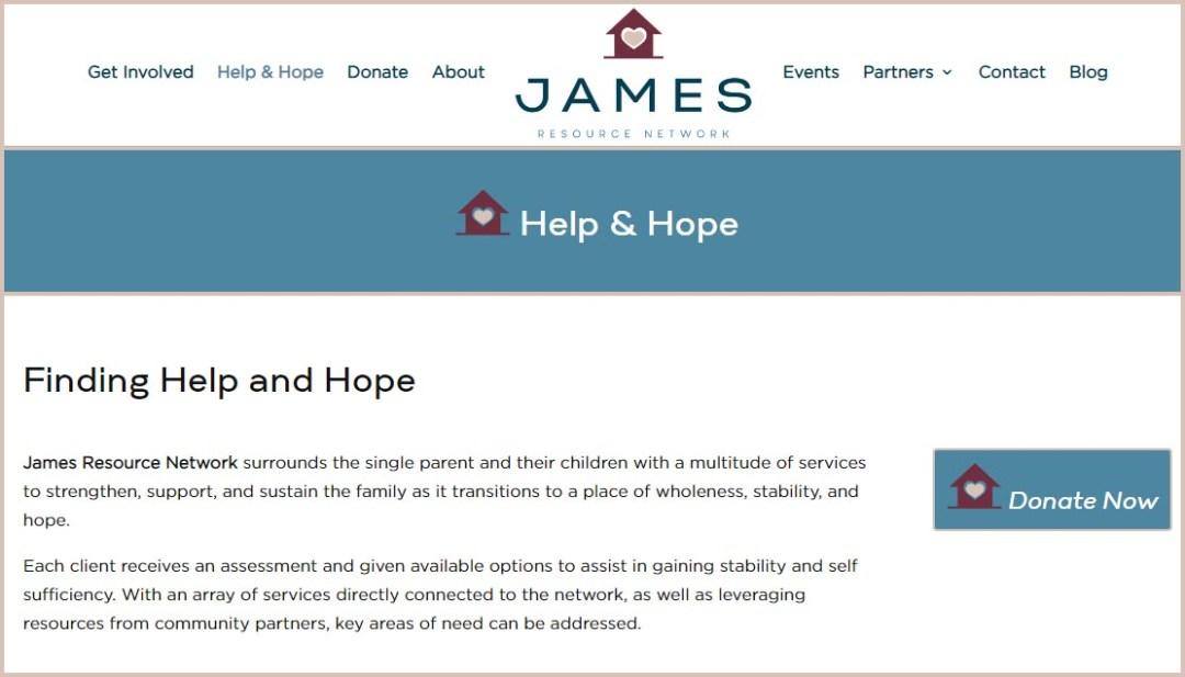 James Resource Network Website