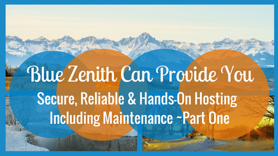 Blue Zenith Can Provide Secure, Reliable & Hands-On Hosting Including Maintenance, Part One