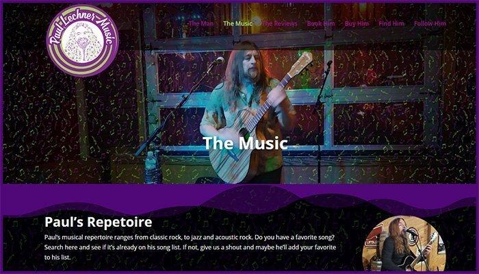 Paul Lechner Music Website