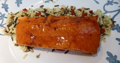 Salmón sous-vide, baja temperatura, con salsa tereyaki!!