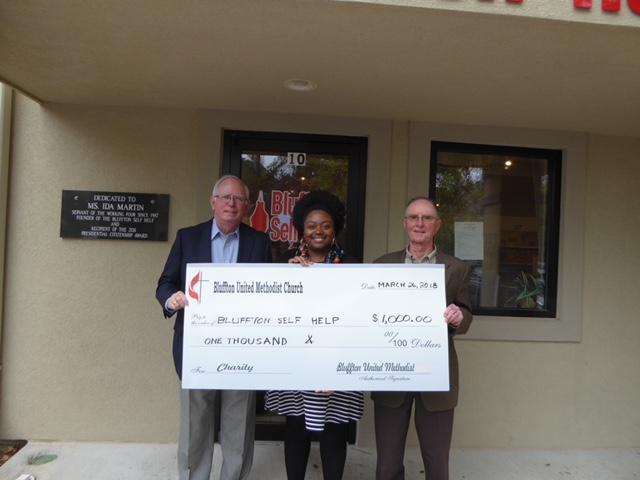 BUMM donation to Bluffton Self Help