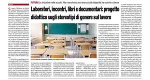 Articolo PrimaPagina Progetto UDI lavoro 15genn2015