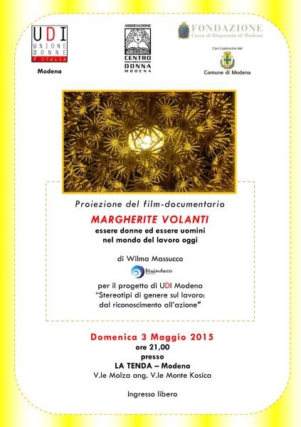 Volantino Margherite Volanti 3 maggio Modena