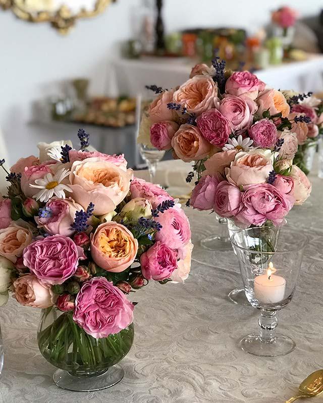 Blumen Tischdekoration Zürich