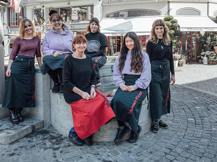 Team blumen fitze Zürich