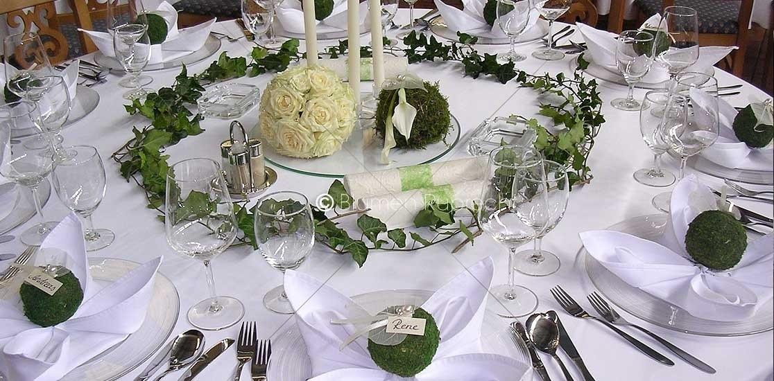 Hochzeitstafel  Tischdeko  Blumen Ruprecht Gleisdorf