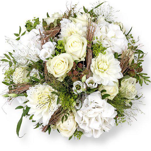 Weier Blumenstrau Magnifique online  Blumenstrue