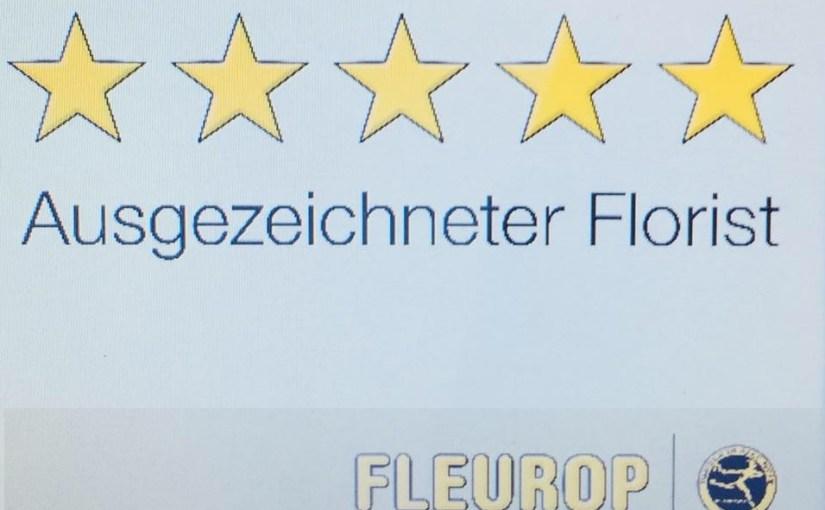 Fünf Sterne von Fleurop