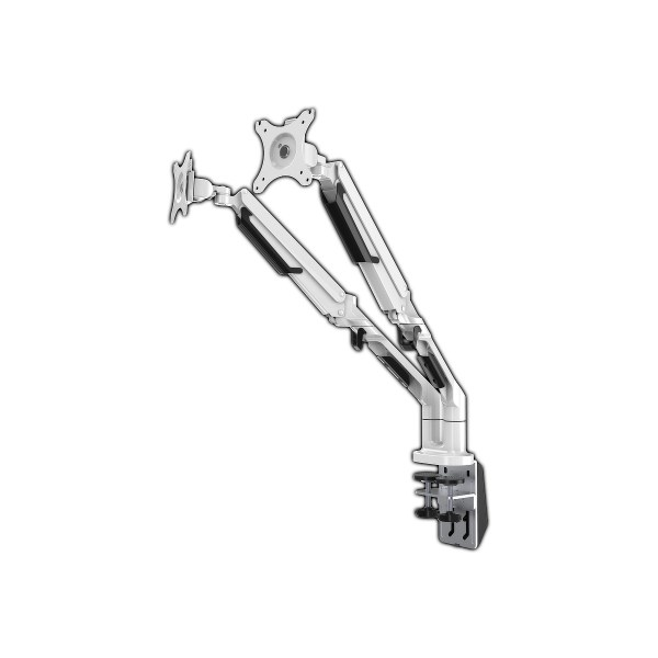 Loctek Dual LCD Arm - White