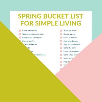 Spring Bucket List Free Printable