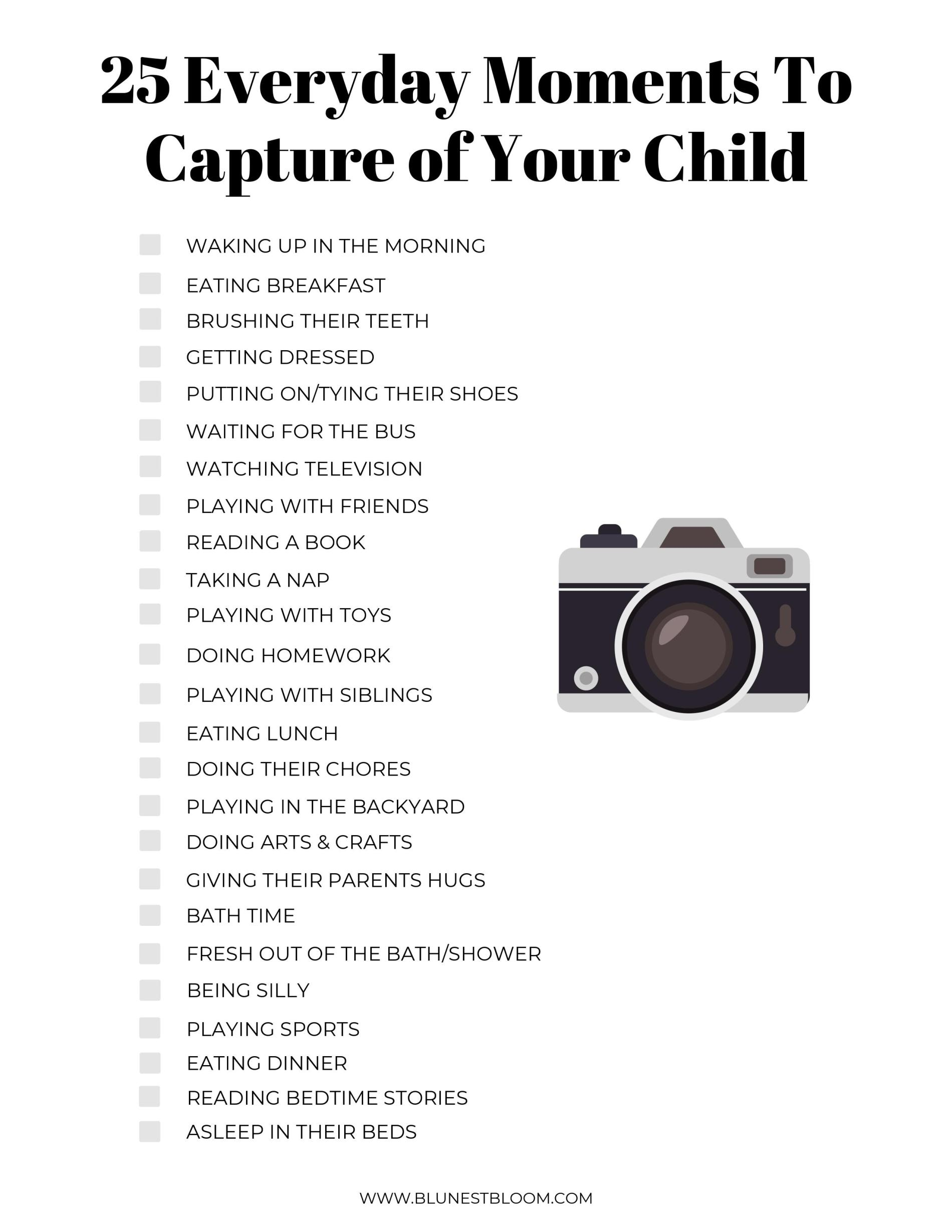 25 Everyday Moments to Capture of Your Child