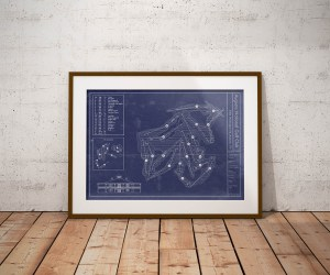 Augusta National Golf Club Vintage Blueprint